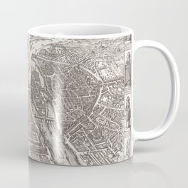 Large Map of Paris from 1618 Coffee Mug