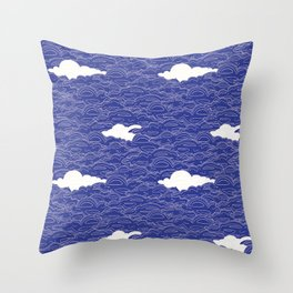All up in the clouds  Throw Pillow