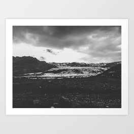 Ice giant - black and white landscape photography Art Print