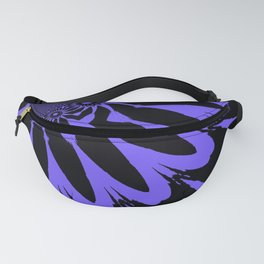 The Modern Flower Black & Periwinkle Fanny Pack