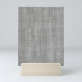 Pantone Pewter Dry Brush Strokes Texture Pattern Mini Art Print
