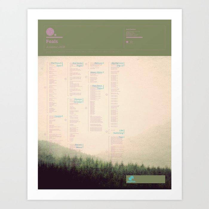 The Visual Mixtape 2010 | Antidotes | 06 / 25 Art Print