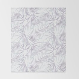 Palm leaves 3 Throw Blanket