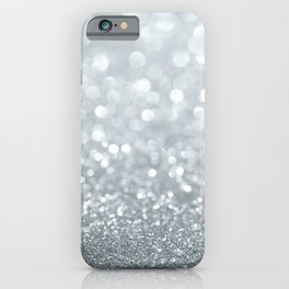 White & Silver Glitter Sparkle iPhone Case