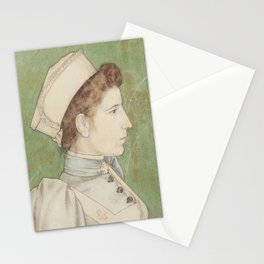 Portrait of Nurse Nelly (1894) by Jan Toorop Stationery Cards