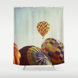 Away We Go Shower Curtain