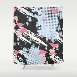 Simple pattern love Shower Curtain