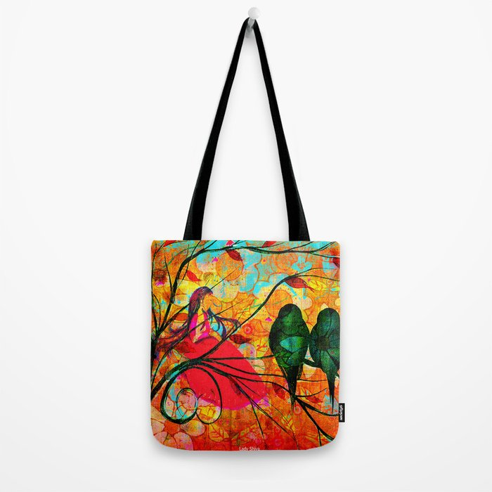""" O free birds, proud, charming, pure, without troubles."" Tote Bag"