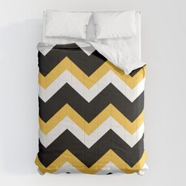 Yellow Black Chevron Comforters