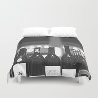 wine Duvet Covers featuring wine by Alyson Cornman Photography
