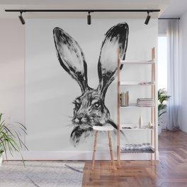 Rabbit Painting | Dry Brush | Animal Art | Animals Wall Art | Nature | Animal Forest Wall Mural