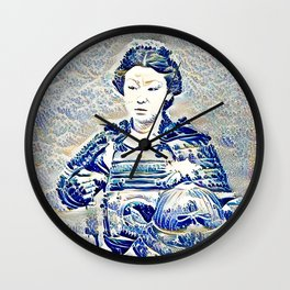"""The New Wave"" Onna-bugeisha Wall Clock"