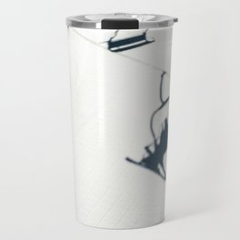 Chair lift shadow Travel Mug