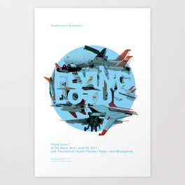 Flying Lotus Art Print
