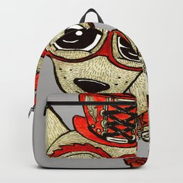 Steampunk Chihuahua gray grey Backpack