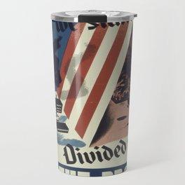 Vintage poster - United We Stand Travel Mug