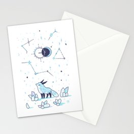 Arctic Nights Stationery Cards