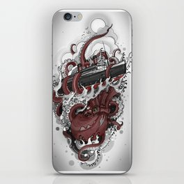 Octopus vs. Queen Mary iPhone Skin