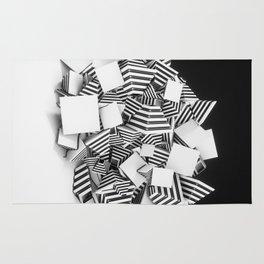 Abstract Pyramid 3D Illustration Rug