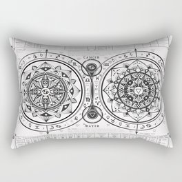 "Cancer ""Water Sign"" Mandala Zodiac Chart Rectangular Pillow"