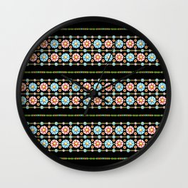 Millefiori Boho Chic Stripe Wall Clock