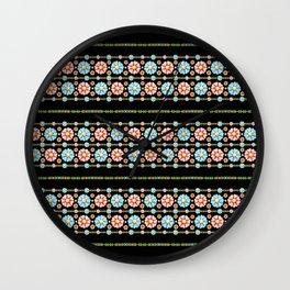 Daisy Boho Chic Wall Clock