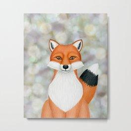fox woodland animal portrait Metal Print