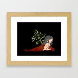 Belladonna - Little Girl with Deadly Nightshade Framed Art Print