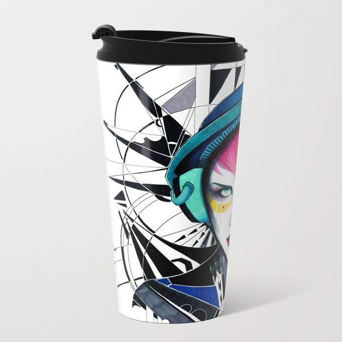 -War in my Heart- Metal Travel Mug