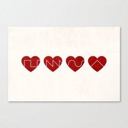 Love Synth Canvas Print