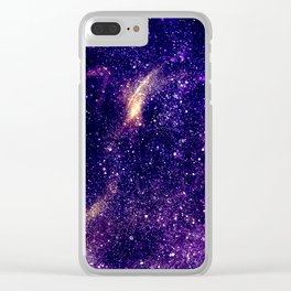 Ultra violet purple abstract galaxy Clear iPhone Case
