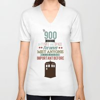 doctor who V-neck T-shirts featuring Doctor Who by Ashley