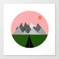 drive Canvas Prints featuring Drive by Miranda Lorikeet
