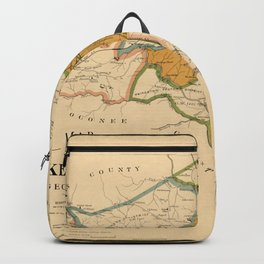 Map Of Athens Georgia 1893 Backpack