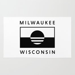 Milwaukee Wisconsin - White - People's Flag of Milwaukee Rug