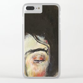 Lady Luck (Square 1) Clear iPhone Case