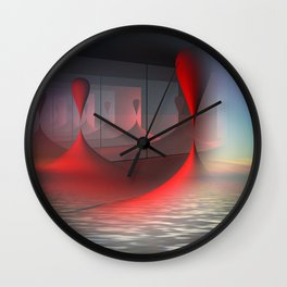 above the water Wall Clock