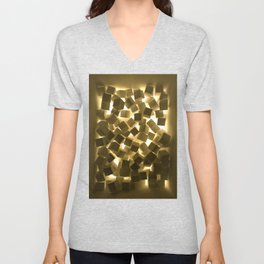 3D What Burns in Your Box? Unisex V-Neck