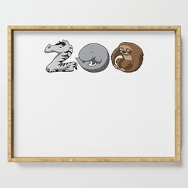 Zoo Keeper Zoologist Kids Animal Alphabet Gift Serving Tray