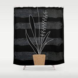 Scandi Plant 2 Shower Curtain
