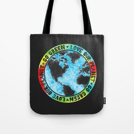 Love Our Planet Go Green Tote Bag