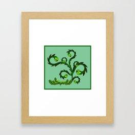 Slow Friday Garden Framed Art Print