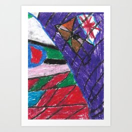 Window Wax Colors Art Print