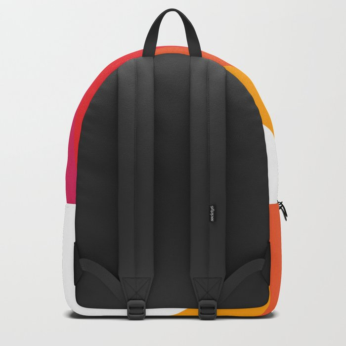 Retro Bright Rainbow - Right Side Backpack