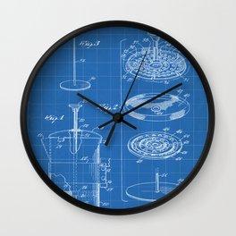 Coffee Filter Patent - Coffee Shop Art - Blueprint Wall Clock