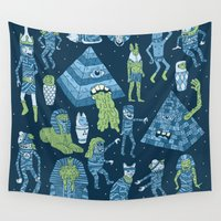 madonna Wall Tapestries featuring Wow! Mummies! by Josh Ln
