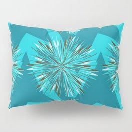 Arrow Bursts in Teal Pillow Sham