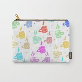 Modern pastel winter holidays coffee hand drawn pattern Carry-All Pouch