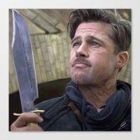 brad pitt Canvas Prints featuring Brad Pitt by Carl Ellistration