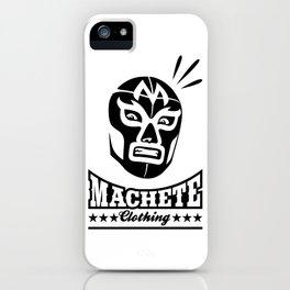 Machete Mask (Black) iPhone Case